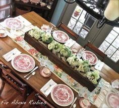 Far Above Rubies: 17 ways to use a long box as a centerpiece - Thanksgiving Table