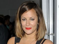Caroline Flack was previously rocking a brunette style