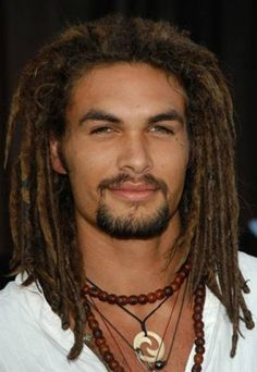 Jason Momoa with dreads, yumm Jason Momoa, Black Men Hairstyles, Braided Hairstyles, Natural Hair Styles, Long Hair Styles, Long Black Hair, Hommes Sexy, African American Hairstyles, Gorgeous Men