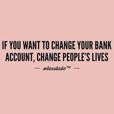 Most people are so focused on getting that they DO NOT GIVE. Wealthy people are usually generous. They're not working for money, they're working for fun. The money is a bonus. Take our financial online wisdom course to learn more about wealth this #saturday!  Join the #Bossbabe Netwerk™ (Click The Link In Our Profile Now! )