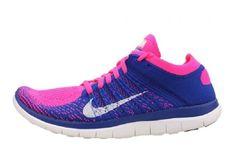hot sale online 9a989 58c89 Nike Free 4.0 Flyknit Naisten Juoksukengät Sininen Pinkki