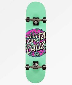 Get outside with everything you need to get shredding right away with Santa Cruz's Abyss Dot Skateboard Complete. This pre-assembled skateboard comes with Bullet Trucks, OJ wheels and sports Santa Cruz's iconic logo script at the center of the deck Complete Skateboards, Cool Skateboards, Skateboard Design, Skateboard Decks, Abercrombie Girls, Girls Football Boots, Architecture Art Design, Electric Skateboard, Skater Boys