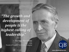 Harvey Firestone the Growth and Development of People