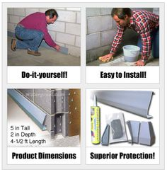 An easy to install hollow baseboard channel that quietly collects leaking water and drains it away! DIY SquidGee Dry basement waterproofing system : http://waterproof.com/squidgee-dry-system.html