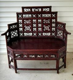 Regency/Chippendale Octagon Bamboo Fretwork Settee