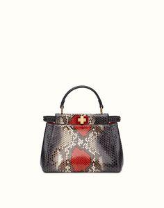 FENDI   MINI PEEKABOO Python handbag