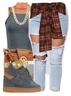 """Caus"" by polyvoreitems5 ❤ liked on Polyvore featuring Charlotte Russe, Michael Kors, Nixon, Faith Connexion and NIKE"