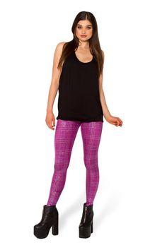 Disco Doll Tartan Leggings - LIMITED › Black Milk Clothing