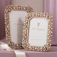 """Two's Company Crystal and Pearl Photo Frames (3 1/2"""" x 5"""", Crystal and Pearl) Two's Company,http://www.amazon.com/dp/B002ZTEL3Q/ref=cm_sw_r_pi_dp_W6motb1NM6NPKSRN"""