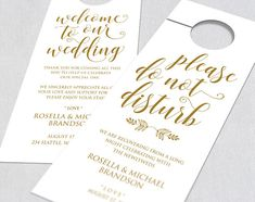 Gold Wedding Door Hanger Door Hanger Printable Door Hanger