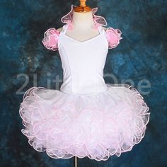 National Pageant Dress Shell  Off shoulder Babydoll Style sizes 6mos to 3//4T