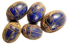 Sadigh Gallery Ancient Egyptian Lapis Lazuli Scarabs Middle Kingdom 2040 BC (Not actual eggs.just ideas~) Ancient Egyptian Jewelry, Egyptian Scarab, Egyptian Mythology, Egyptian Goddess, Ancient History, Art History, Ancient Aliens, Ancient Artifacts, Archaeology