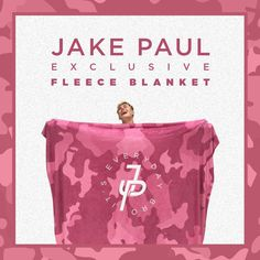 "The exclusive Jake Paul pink camo fleece blanket is finally here! This massive blanket is only for the true J. Paulers. Stay warm in style. Product Info: - 80"" x 60"" Blanket - Ultra plush soft fleece"