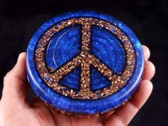 4 Orgonite Orgone Energy Peace Sign Charging by BittleBoxArt
