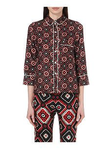 F.R.S. FOR RESTLESS SLEEPERS Silk micro tie-print shirt