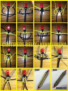 Centipede Belly Paracord Bracelet.