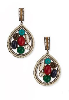 These 7 #ratnas or 7 precious stone #earrings from Aaashita Saraf will add glamour to your look.