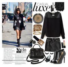 """""""Shein <3 [ Black Blouse ]"""" by miss-happy ❤ liked on Polyvore featuring Urban Decay, Limedrop, H&M, Merona, Tom Ford, ALDO, Topshop, Blue Nile, Gorgeous Cosmetics and Lancôme"""