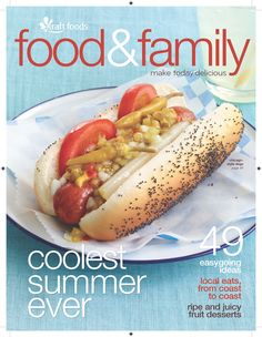 Chicago-Style Dogs recipe featured on the cover of the latest food & family magazine