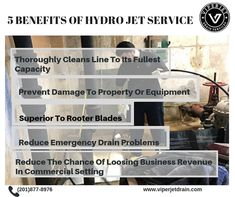 Hydro-Jetting is known as one of the most effective ways to Clear a Clogged Pipe. Recycling Services, Drain Cleaner, New Jersey, Plumbing, Cleaning, Home Cleaning, Bathroom Fixtures