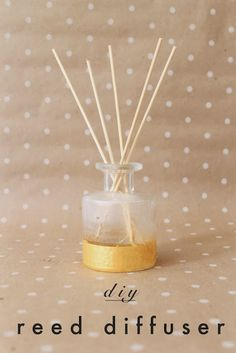 Reed Diffuser & Carrier Oil- 16 Great DIY Natural Air Fresheners for Your Home