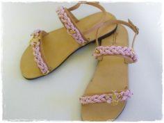 Δερμάτινο Πέδιλο με Μεταξωτά Κορδόνια! Χειροποίητα και φυσικά μοναδικά! Διαλέξτε χρώμα! Gladiator Sandals, Shoes, Fashion, Zapatos, Moda, Shoes Outlet, La Mode, Shoe, Fasion