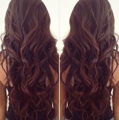 Gorgeous Brunette Wavy Hair...I love this!
