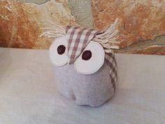 little fabric owl shabby chic