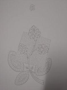 Basic Embroidery Stitches, Embroidery Motifs, Machine Embroidery Designs, Handmade Embroidery Designs, Creative Embroidery, Zardozi Embroidery, Computerized Embroidery Machine, Pencil Design, Arabic Design