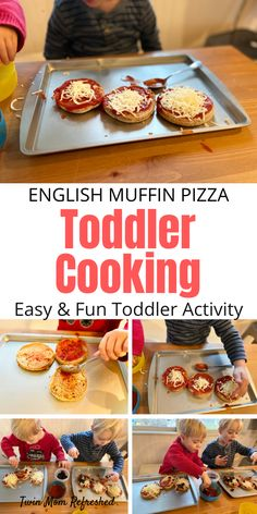English Muffin Pizza Toddler Meal Idea Looking for easy toddler food recipes? These English muffin pizzas are a food recipe that toddlers Easy Toddler Meals, Toddler Lunches, Easy Meals For Kids, Fun Easy Recipes, Baby Food Recipes, Toddler Food, Toddler Recipes, Fun Recipes For Kids, Pizza Recipe For Kids