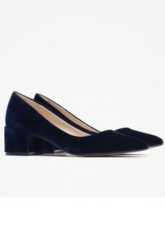 These Fashion Trends Are Perfect For The Office #refinery29  http://www.refinery29.com/office-fashion-trends#slide-16  Low HeelsAn all-over velvet shoe to usher in the season of office holiday parties....