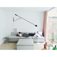 blush curtains // Flos 265 // Hanna Konola