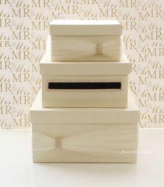 Wedding Card Box Money Box Wedding Gift Card Money Box  - Custom Made to Order- I could probbably make this