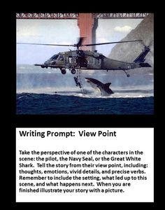 Writing Prompt: Perspective -- Shark Attack --