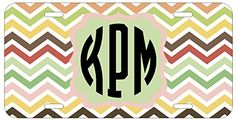 Personalized Monogrammed Chevron Green Purple Yellow License Plate Auto Tag Top Craft Case http://www.amazon.com/dp/B00N0259TW/ref=cm_sw_r_pi_dp_MEotub1Y944EH