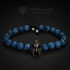 Mens Bracelet, Black Bracelet, Spartan Helmet Charm, Bracelet For Men , Gift For Men Wholesale Bracelet available, Braccialetto, Armband by JuniperandEloise on Etsy