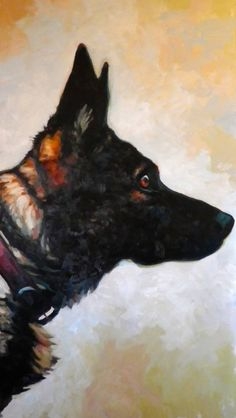 "Saatchi Art Artist: Thomas Saliot; Oil 2013 Painting ""The dog"""