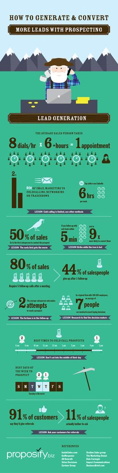 #infographics shows how to use cold-calling and follow ups properly to bring in new clients #design
