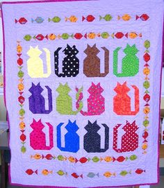 Cats 'n fishes / Photo Gallery / Quilts For Kids