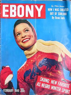 Skiing is the New Favorite As A Negro Sport - Ebony Magazine February, 1949
