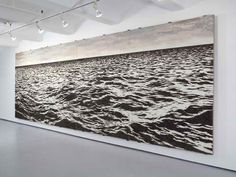 Approximately 500,000 fishhooks were used to create this beautiful photo-like seascape mural. Cuban artist Yoan Capote.