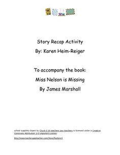Miss Nelson is Missing Recap Activity