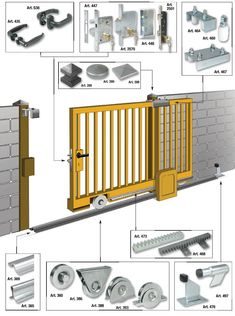 48 Ideas For Sliding Garage Door Decks Fence Gate Design, Steel Gate Design, Front Gate Design, Main Gate Design, House Gate Design, Door Design, Sliding Fence Gate, Sliding Garage Doors, Front Gates
