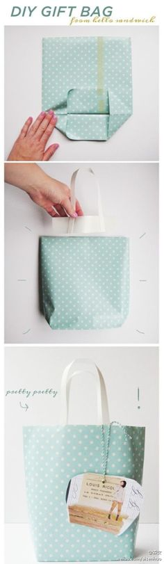 "how to make a beautiful polka dot bag...great idea to use as latterns or part of centerpiece for ""fashionably late"" theme!"