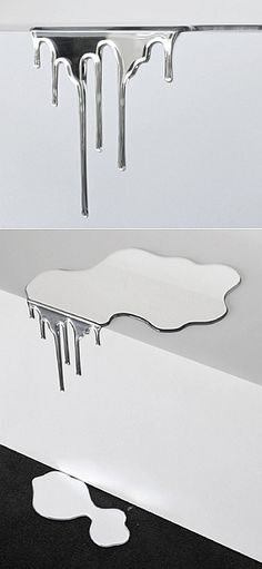 """liquid mirror with drops """"I want to find something special…"""" When what you desire is clear, finding it is easy. Go to Japanese site mitsubai.com and find liquid mirrors for your interior. That's so unique!"""