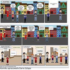 Klasa czwarta czytała książki i na ich podstawie tworzyła komiksy. Używaliśmy aplikacji internetowej Storyboard. Nie zakładaliśmy kont ale korzystaliśmy z możliwości rysowania krótkich historyjek. Potem w ramach ćwiczeń z kopiowania tego co widać na ekranie czyli PrintScrn wklejaliśmy poszczególne części do Painta. Storyboard, Desktop Screenshot