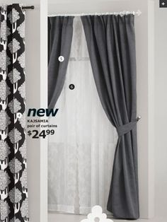 I like these curtains for living room or bedroom