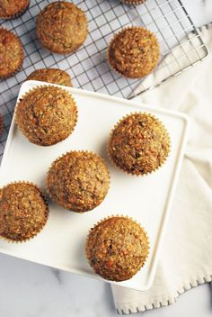 Healthy Muffin Recipes, Healthy Muffins, Oat Flour Muffins, Raisin Bran Muffins, Unbleached Flour, Savoury Dishes, Zucchini, Flaxseed, Baked Oatmeal