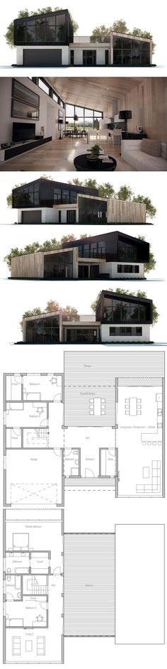 House Plan with four bedrooms.