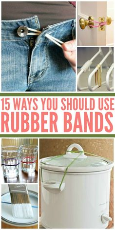 15 Ways You Should Be Using Rubber Bands